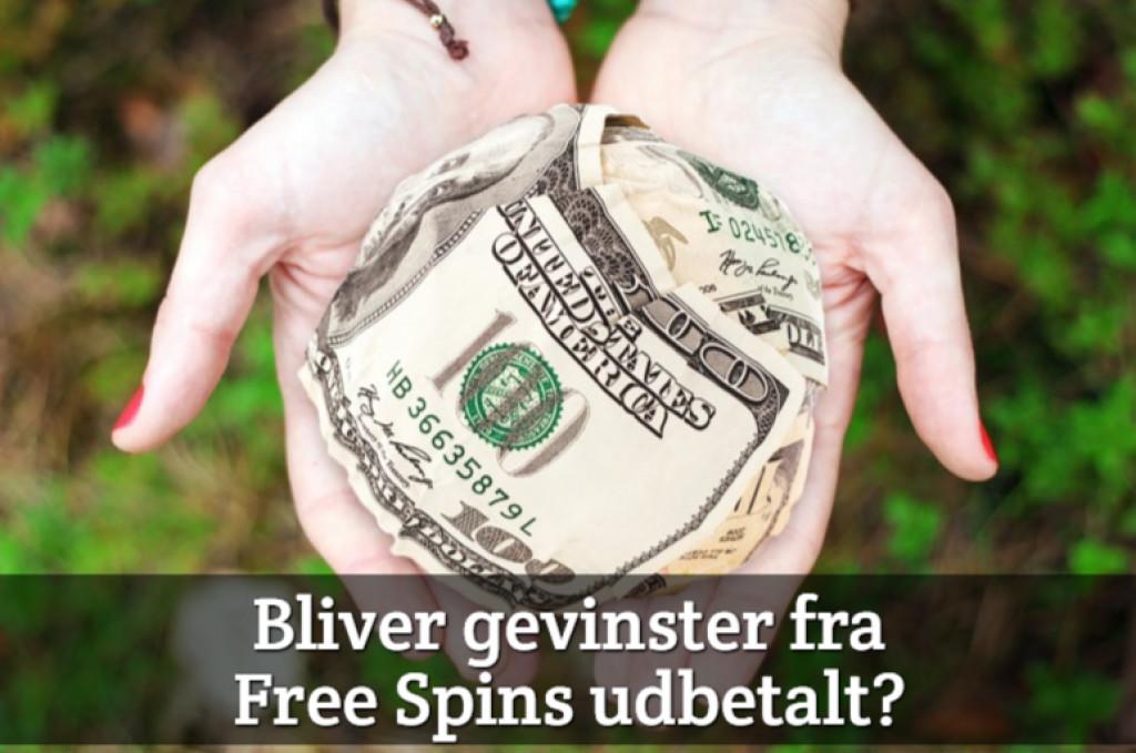 Bliver gevinster fra Free Spins udbetalt?